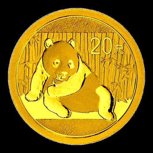 1/20 Unze China Panda Gold 2015 (20 Yuan) / Vorderseite