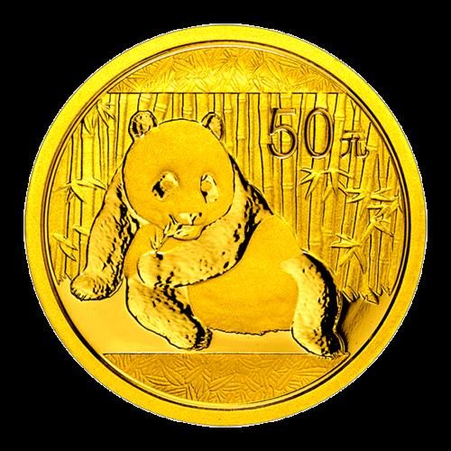 1/10 Unze China Panda Gold 2015 (50 Yuan) / Vorderseite