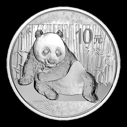 1 Unze China Panda Silber 2015 (10 Yuan) / Vorderseite