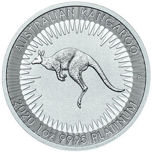 1 Unze Platin Australien Känguru 2020