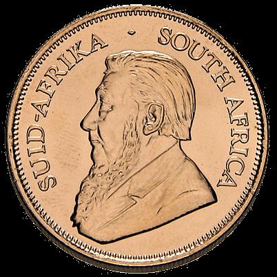 Rückseite der 1 Unze Goldmünze Krügerrand   Rückseite Goldmünze Krügerrand 1 Unze von South African Mint