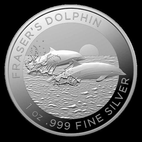 1 Unze Silber Australien Fraser's Dolphin 2021