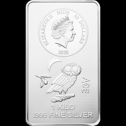 1 kg Silber Münzbarren Eule 2020