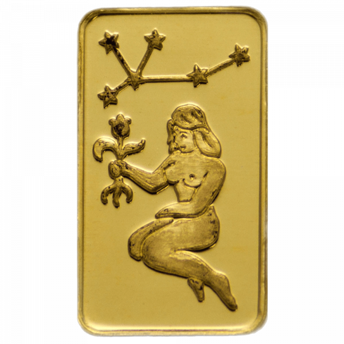 1 g Goldbarren Sternzeichen Jungfrau