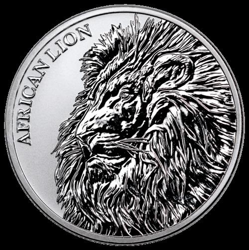 1 Unze Silber Afrikanischer Löwe Vorderseite