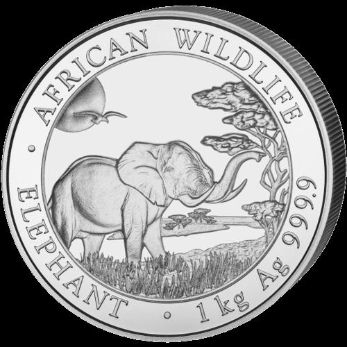 1 kg Silber Somalia Elefant 2019
