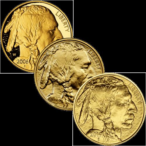 American Buffalo Goldmünze 1 Unze | Vorderseite der American Buffalo Goldmünze 1 Unze