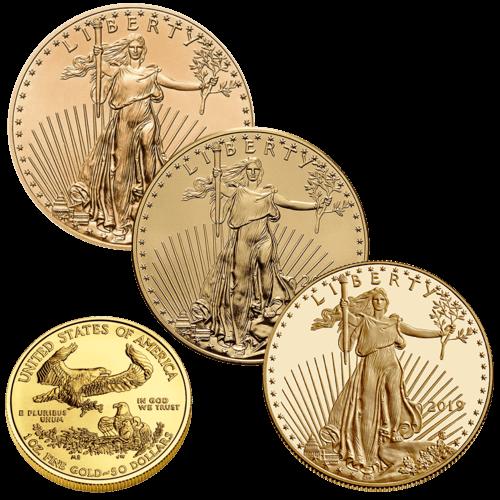 1 Unze Goldmünze American Eagle | Vorderseite der Goldmünze 1 Unze American Eagle von The United States Mint