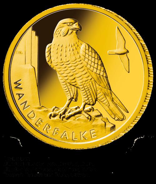 1/8 Unze Gold 20 Euro Heimische Vögel Wanderfalke 2019