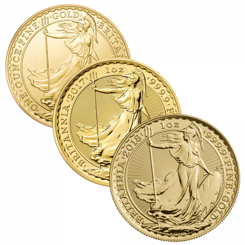 1 Unze Gold Britannia diverse Jahrgänge