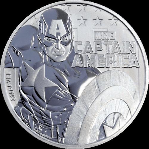 1 Unze Silber Marvel Captain America 2019