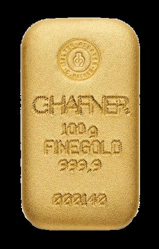 100 g Goldbarren C. Hafner gegossen