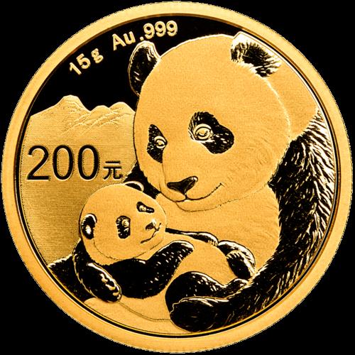 15 g Gold China Panda 2019