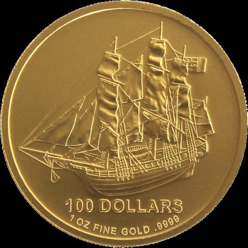 1 Unze Gold Cook Islands | Vorderseite Cook Islands Goldmünze 1 Unze von Heimerle + Meule