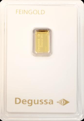 1 g Goldbarren Degussa