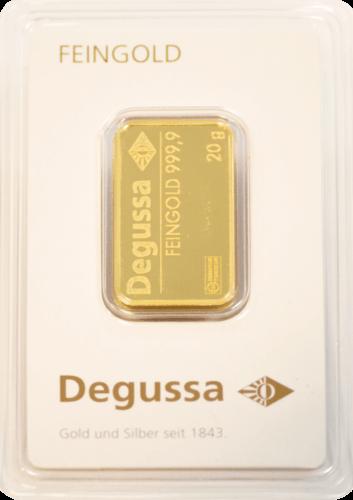 20 g Goldbarren Degussa