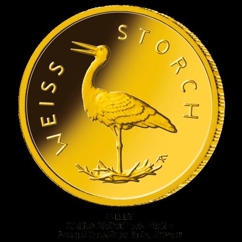 1/8 Unze Gold 20 Euro Heimische Vögel Weißstorch 2020