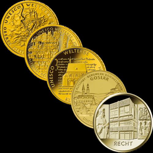 1/2 Unze Gold 100 Euro Deutschland diverse Jahrgänge