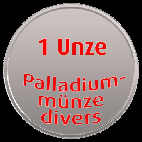 1 Unze Palladiummünze divers