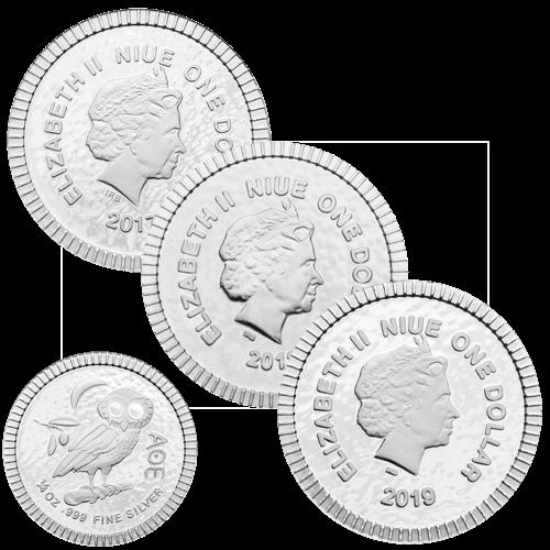 1/4 Unze Silber Eule von Athen diverse Jahrgänge