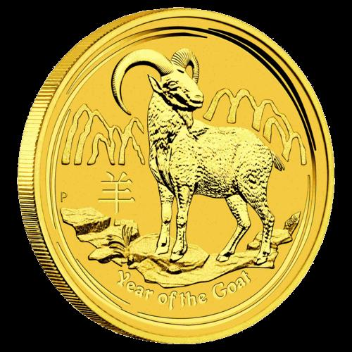 1/20 Unze Gold Lunar II Ziege 2015