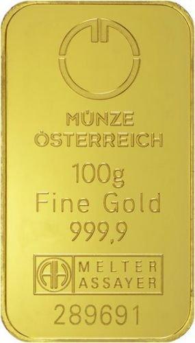 100 g Goldbarren Münze Österreich