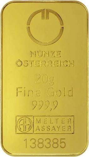 20 g Goldbarren Münze Österreich
