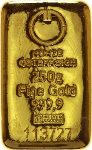 250 g Goldbarren Münze Österreich