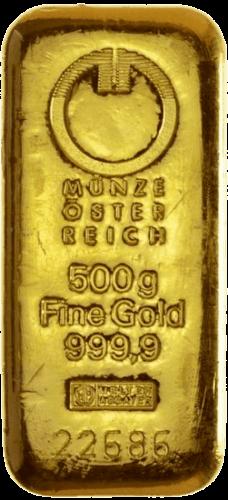 500 g Goldbarren Münze Österreich