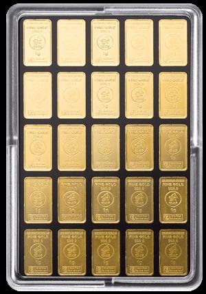 50 x 1 g Gold UnityBar Heimerle und Meule