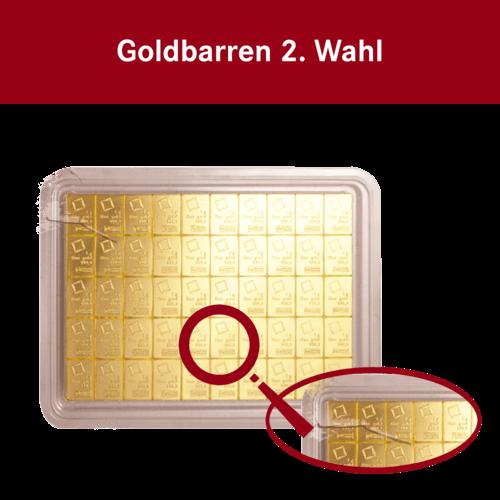 50x1g Combibar Goldtafel 2. Wahl