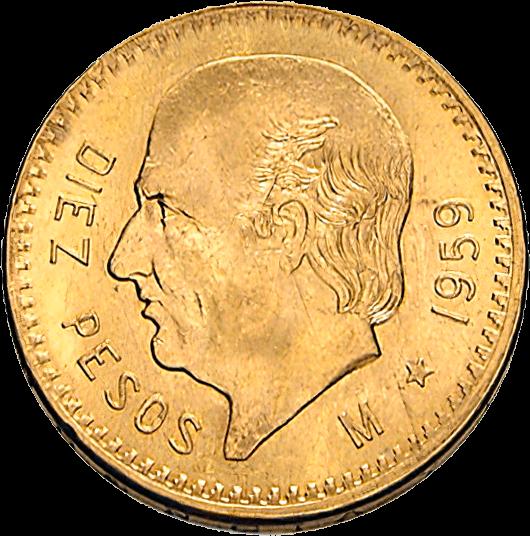 7,5 g Gold 10 Pesos Mexiko Centenario