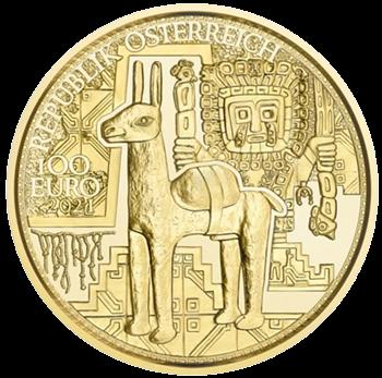 1/2 Unze Gold 100 Euro Der Goldschatz der Inka 2021 Proof-Qualität