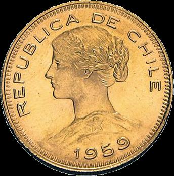 18,3 g Gold Chile 100 Pesos diverse Jahrgänge