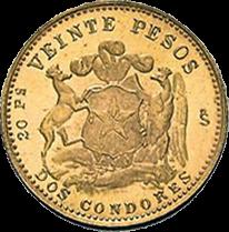 3,66 g Gold Chile 20 Pesos diverse Jahrgänge