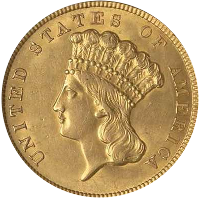 4,51 g Gold 3 Dollar USA Indian Princess Head diverse Jahrgänge