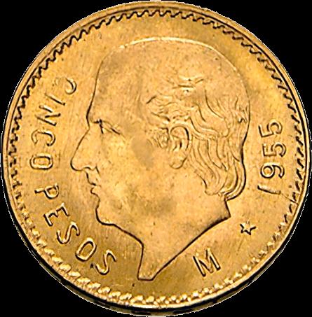 3,75 g Gold 5 Pesos Mexiko Centenario