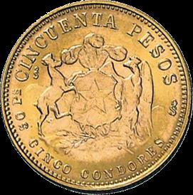 9,15 g Gold Chile 50 Pesos diverse Jahrgänge