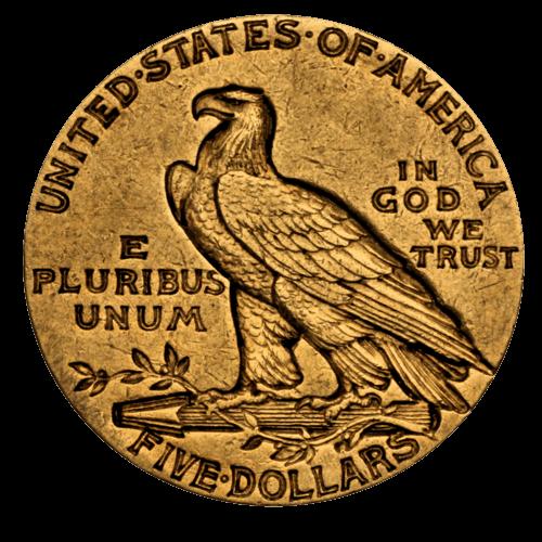 7,52 g Gold 5 Dollar USA Indian Head diverse Jahrgänge