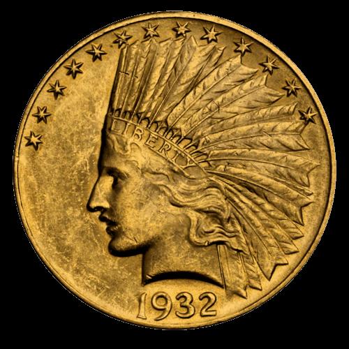 15,05 g Gold 10 Dollar USA Indian Head diverse Jahrgänge