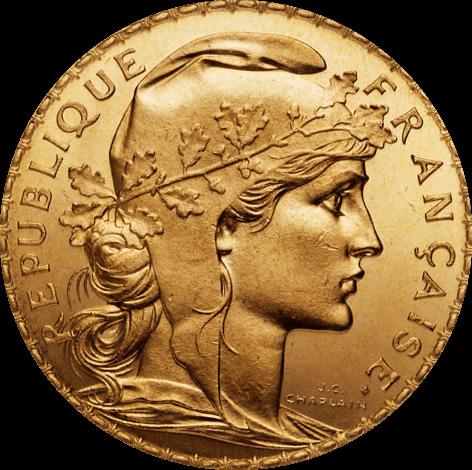 20 Francs Goldmünze Frankreich diverse Jahrgänge