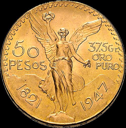37,5 g Gold 50 Pesos Mexiko Centenario