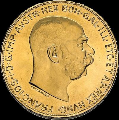30,49 g Gold Österreich 100 Kronen diverse Jahrgänge