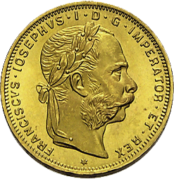5,81 g Gold Österreich 8 Florin diverse Jahrgänge