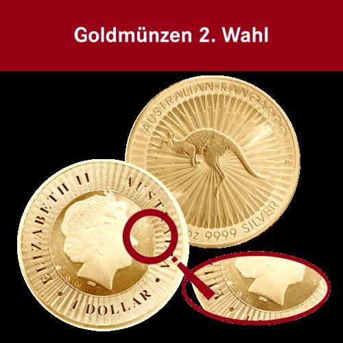 1 Unze Goldmünze Känguru 2. Wahl