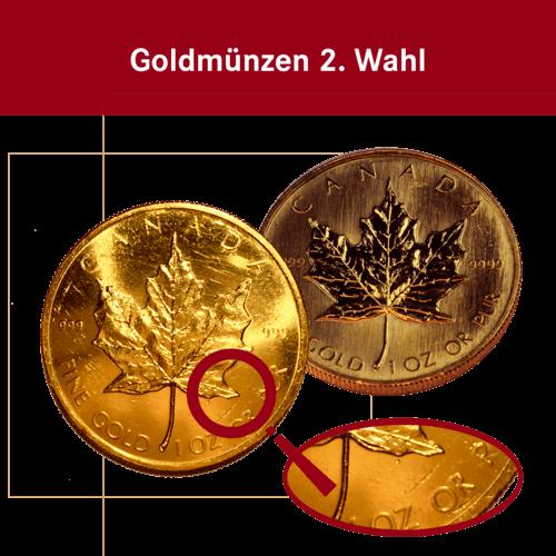 1 Unze Gold Maple Leaf (2. Wahl)