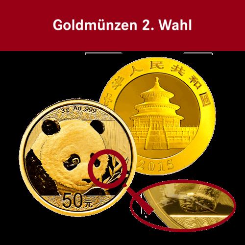 3 g Gold China Panda (2. Wahl)
