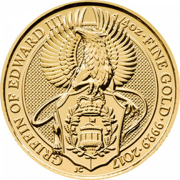 1/4 Unze Gold The Queen´s Beasts - Griffin of Edward III 2017