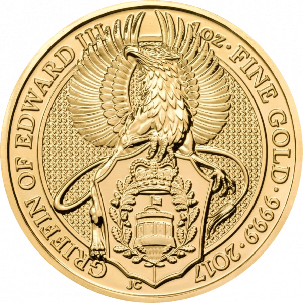 1 Unze Gold The Queen´s Beasts - Griffin of Edward III 2017