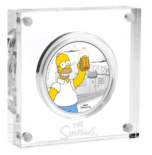 1 Unze Silber The Simpsons Homer Simpson 2019 Proof-Qualität